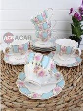 Acar Porselen 6lı Lüx Kahve Fincan Takımı