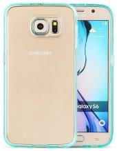 Totudesing Samsung Galaxy S6 Edge Yeşil Kenarlı Silikon Kılıf
