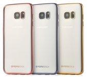 Totudesign Samsung Galaxy S6 Metalik Kenarlı Silikon Kılıf