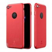 Baseus Simple Solid Mat Kırmızı İphone 7 Kılıf