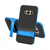 Samsung Galaxy S8 Stand Mavi Kılıf