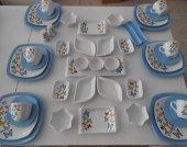 Keramika Mavi Butterflly Kahvaltı Takimi