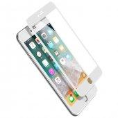 Baseus İphone 7 8 Edge Ekran Koruyucu Beyaz Cam