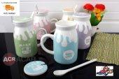 Acr Porselen Kupa Bardak Kaşıklı Süt Kupası