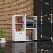 Modilayn Ard 109 Defne Mikrodalga Mutfak Dolabı Beyaz