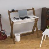 Unicorn Çalışma Masası Beyaz Ceviz Tm 309