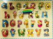 Harfleri Öğreniyorum Boyamalı Bultak Puzzle