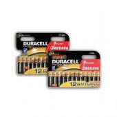Duracell 9+3 Aa 12 Li Kalem Pil Ve 9+3 Aaa 12 Li İnce Pil Paketi