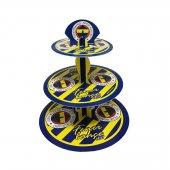3 Katlı Karton Cupcake Standı Fenerbahçe Temalı Kek Standı