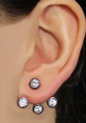 925 Ayar Gümüş Ear Jacket Küpe