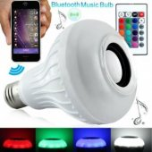 Bluetooth Hoparlör Ve Led Lamba Uzaktan Kumandalı Ampül
