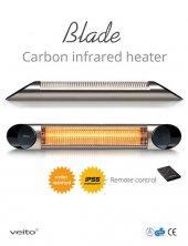 Veito Blade S 2500 Gümüş Kumandalı Karbon Infrared Isıtıcı