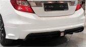 Honda Civic 2012 2015 Mugen Rr Difüzörlü Arka Tampon Eki Boyalı
