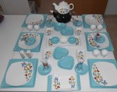 Keramika Kare Turkuaz Kahvaltı Takımı