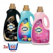 Abc 3 Lt Sıvı Çamaşır Deterjanı Çeşitleri X3 Adet