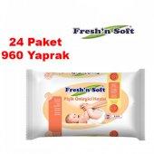 Fresh & Soft Pişik Önleyici Islak Havlu 40 Lı X24 Paket