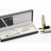 Scrikss 35 Dolma +tükenmez Takım Beyaz Altın Lüks Kutuda