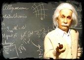 Albert Einstein Ahşap Eskitme Tablo Ev,cafe,ofis D...