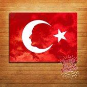 Türk Bayrağı Ahşap Tablo