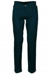 Erkek Keten Kot Pantolon Slim Fit Petrol Rar00178