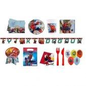 Spiderman Temalı Doğum Günü Parti Seti 8 Kişilik