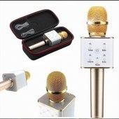 Karaoke Mikrofon Bluetooth, Speaker Karaoke Mikrofon Q7 Smule Sin
