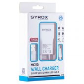 Syrox Samsung Cep Telefonu Hızlı Şarj Cihazı Şarj Aleti 2amp J15