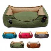 Lepus Soft Plus Mikrofiber Süet Kumaş Kedi Ve Köpek Yatağı X Large 80x105x22h Cm