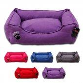 Lepus Soft Dokuma Kumaş Kedi Ve Köpek Yatağı Small 46x58x22h Cm
