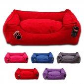 Lepus Soft Dokuma Kumaş Kedi Ve Köpek Yatağı X Large 80x105x22h Cm