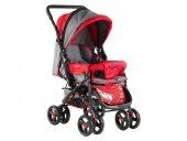 Babyhope 604 13 Çift Yönlü Bebek Arabası Kırmızı Gri