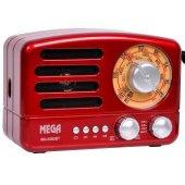Mega Nostaljik Şarjlı Radyo Bluetooth Müzik Çalar Usb Tf Aux Mg 6