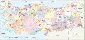 Turkiye Haritası 3.68 M X 2.54 M
