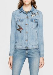 Mavi Katy Lt Shiny Flower Gold Icon Kadın Jean Ceket