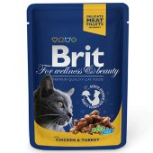 Brit Premium Chicken Turkey Tavuk Ve Hindi Kedi Yaş Maması 100 Gr