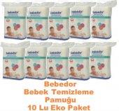 Bebedor Bebek Temizleme Pamuğu 10lu Eko Paket