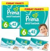 Prima Bebek Bezi 6 Beden 84'lü Fırsat Paket + 3 Adet Islak Mendil