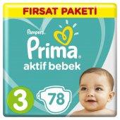 Prima Bebek Bezi 3 Beden Midi 78 Adet Fırsat Paketi