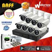 8 Kameralı Samsung Kasa 960p Ahd Güvenlik Kamera Sistemi