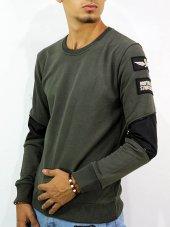 Erkek Sweatshirt Sticker İp Geçme 2 Model