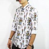 Erkek Gömlek Dijital Baskı Slimfit Red Kit Ve Temel Reis