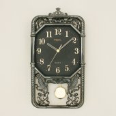 Regal 7021 Bsm İşlemeli Metalize Sarkaçlı Duvar Saati