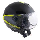 Açık Motosiklet Kaskı Cgm 107g Rome Sagomato Siyah Renk