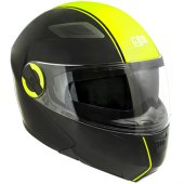 çene Açılır Motosiklet Kaskı Cgm 505a Maden Siyah Renk