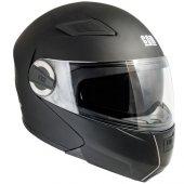 çene Açılır Motosiklet Kaskı Cgm 505a Singapore Siyah Renk