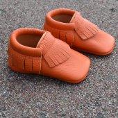 Klasik Makosen Bebek Ayakkabı Turuncu Cv 181