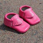 Klasik Makosen Bebek Ayakkabı Fuşya Cv 184