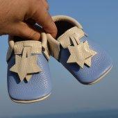 Yıldız Makosen Bebek Ayakkabı Mavi Bej Cv 199
