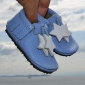 Yıldız Makosen Tabanlı Bebek Ayakkabı Mavi Cv 234