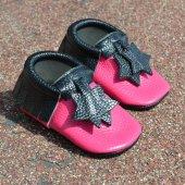 Yıldız Makosen Bebek Ayakkabı Fuşya Siyah Cv 333